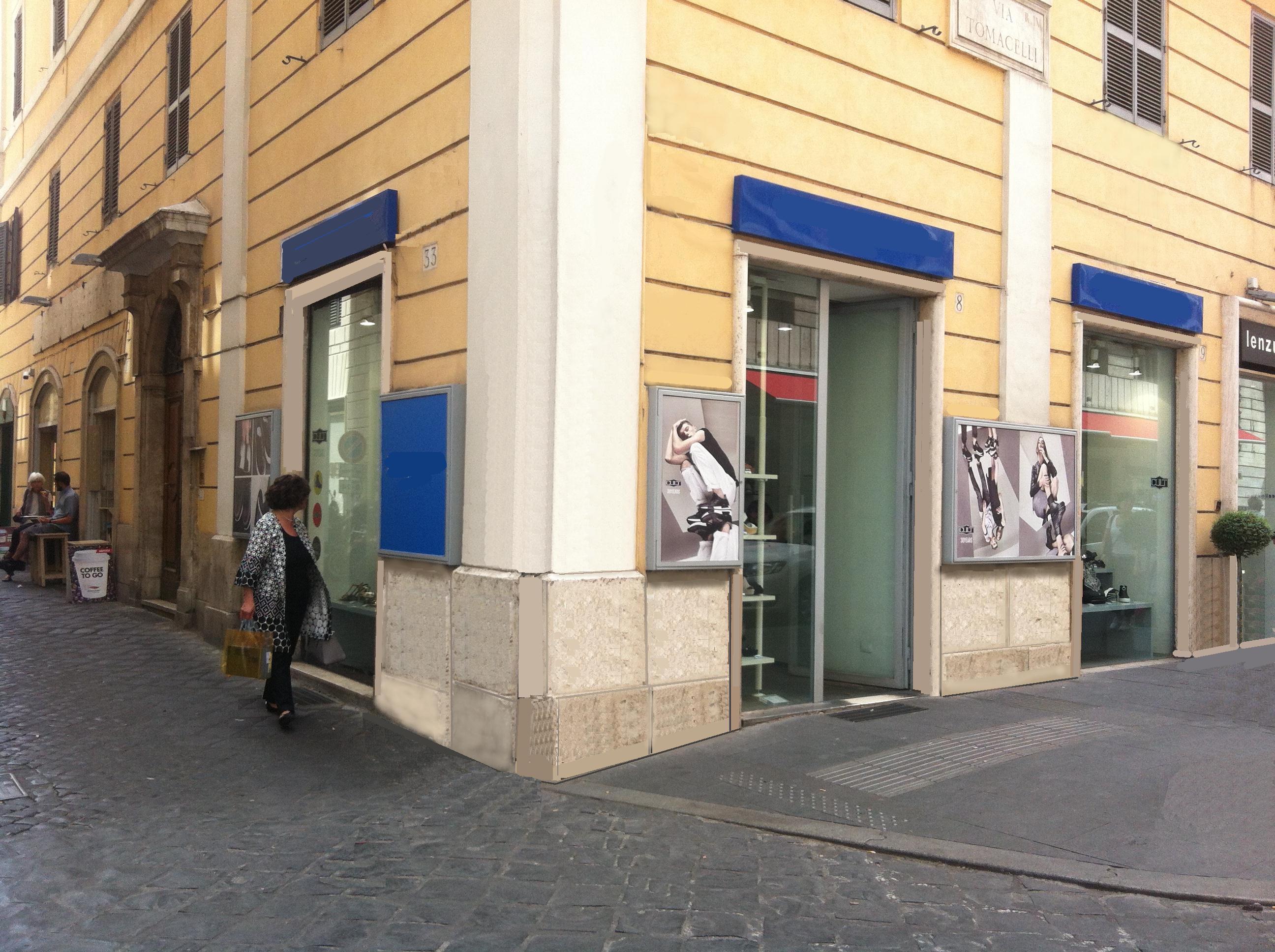Affitto negozio a via tomacelli roma for C1 affitto roma